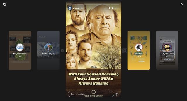 Instagram тестує новий дизайн Stories для великих екранів