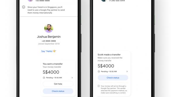 Google Pay запускає міжнародні грошові перекази