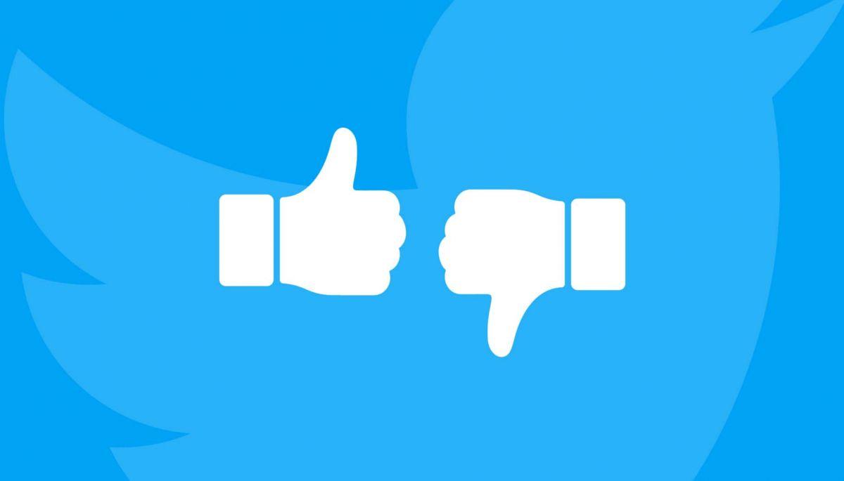 Twitter тестує кнопки «за» та «проти» в якості реакцій на твіти