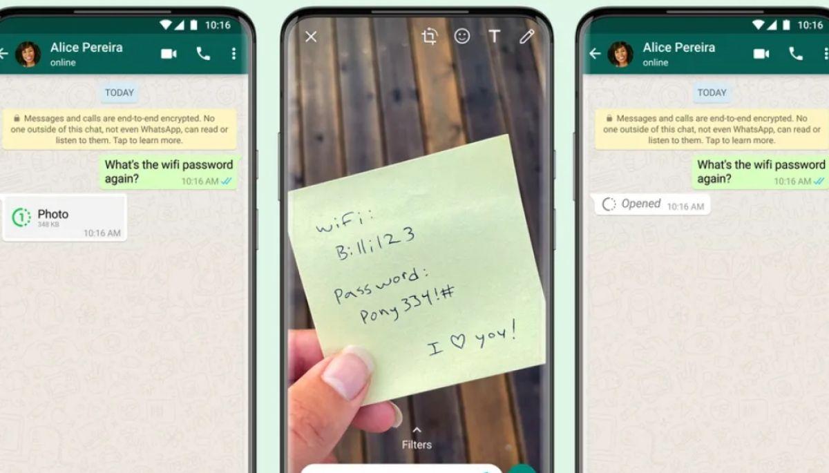 WhatsApp дозволить відправляти фото та відео, які зникають одразу після перегляду