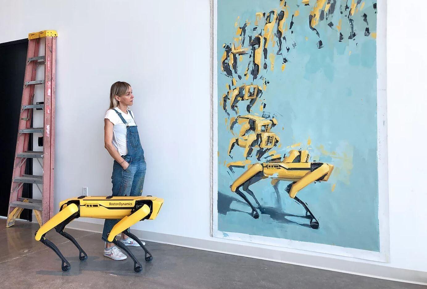Польська художниця презентувала серію картин, намальованих спільно з робособакою Boston Dynamics (ФОТО)