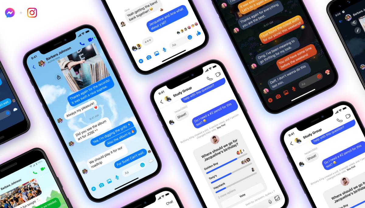 Facebook запустив функцію перехресних чатів між Messenger та Instagram